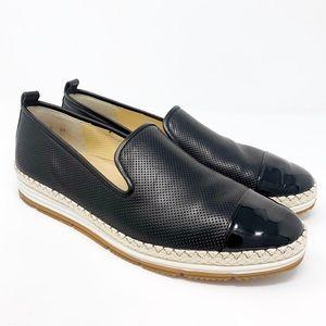 Paul Green Posh Flat UK 6/ 8.5 Black Leather